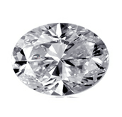 Picture of oval cut diamond