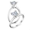 Picture of Princess solitaire engagement ring