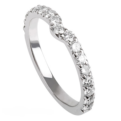 Notch diamonds wedding ring