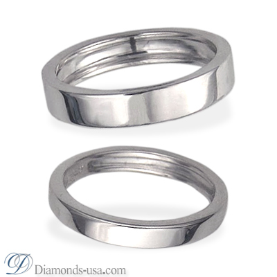 3mm and 4.5 mm Duo Wedding bands
