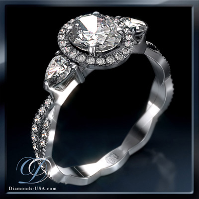 Exclusive Halo design by Diamonds-USA