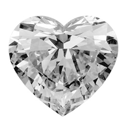 Picture of 0.70 Carats, Heart Diamond with Good Cut, E Color, SI1 Clarity and Certified by GIA