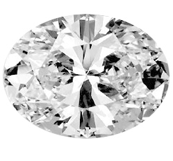 Picture of 0.72 Carats, Oval Diamond with Very Good Cut, H Color, VS2 Clarity and Certified by GIA