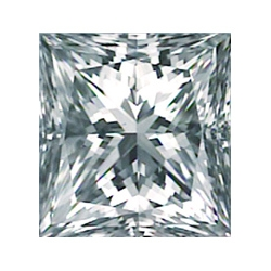 Picture of 0.36 Carats, Princess Diamond with Very Good Cut, G Color, VS1 Clarity and Certified By EGL.