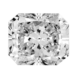 Picture of 0.77 Carats, Radiant Diamond with Ideal Cut, D Color, SI2 Clarity and Certified by GIA