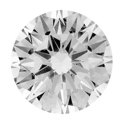Picture of 0.76 Carats,  Round Diamond, Very Good Cut, H I1 Certified by CGL