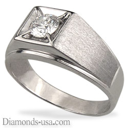 Men diamond ring for Rounds and Princess