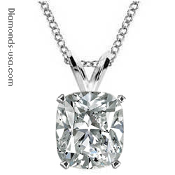 0.36 Carats, Cushion, Pendant for Cushion cut diamond, settings
