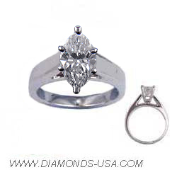 Heavy Cathedral solitaire engagement ring
