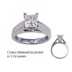 1.02 Carats, Round, Engagement ring, solitaire diamond, Finished