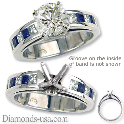 Engagement ring settings, diamonds & sapphires