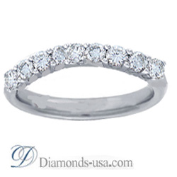 0.45 nine diamonds wedding or anniversary diamond ring