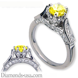 Designers antique engagement ring replica
