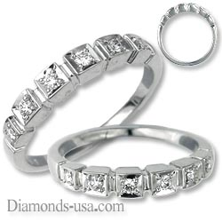 Diamond stairs Anniversary or  Wedding ring