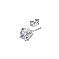 Men Round diamond earring stud-settings