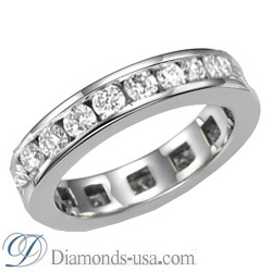1.90 carat Round Diamond Eternity Ring - F VS