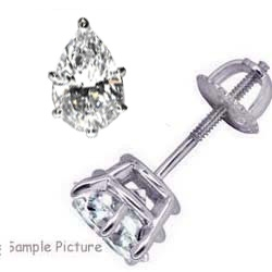 Pear Shaped Diamond Earring Studs