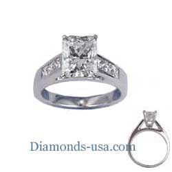 Engagement ring settings, 0.5 carat accent Princess