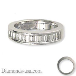 1.10 Carat channel set baguettes wedding ring