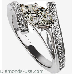 Embraced by Diamonds Ring, 1/3 carat