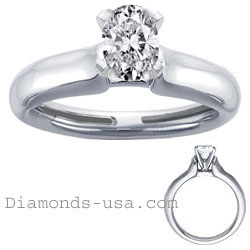 Heavy Contour Engagement ring