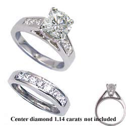 1.04 carats sides bridal ring sets