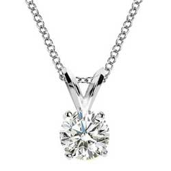 Solitaire pendant for Round diamonds