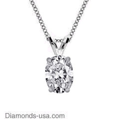 Solitaire Pendant for Oval diamonds