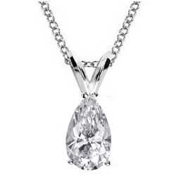 1.5 Carats, Pear, Finished,Pear shaped diamond Pendant.