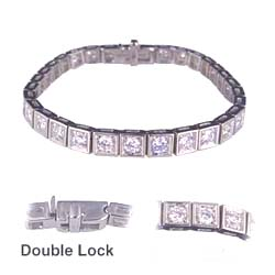 2.10 Cts F VS Round Diamond Tennis Bracelet