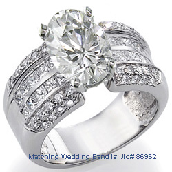 Engagement ring with 1.25 carat side diamonds