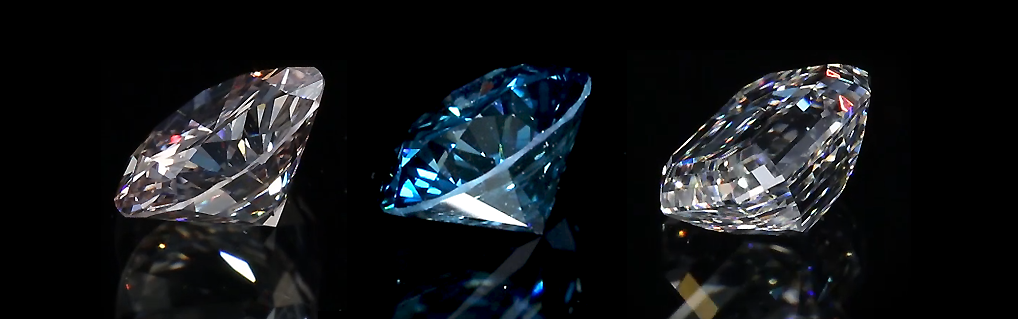 Picture of big clarity enhanced diamonds, Blue diamond