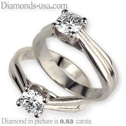 Criss Cross (The Lucida) solitaire engagement ring