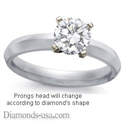 Picture of 3mm Knife Edge Solitaire Engagement ring