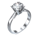 Picture of Cathedral engagement ring