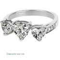 Foto Three Heart Shaped ring de
