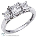 Picture of The Tiffany Lucida replica 3 stone diamond ring