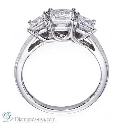 The Tiffany Lucida replica 3 stone diamond ring
