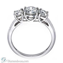 Picture of Three stones diamond CrissCross ring