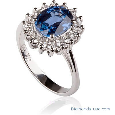 Kate Middleton Sapphire engagement ring-Replica