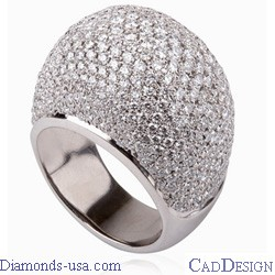 The DiamondsDome, Four carats hundreds of diamonds
