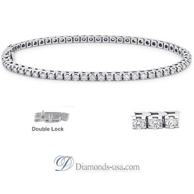 2.10 I SI2 carat Diamond Tennis Bracelet