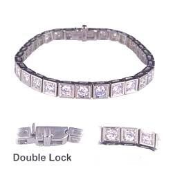 Brazalete de tenis con diamantes redondos I VS2 de 4,65 quilates