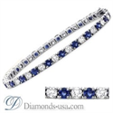 Picture of Tennis Bracelet with round diamonds and Sapphires