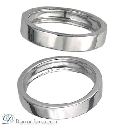 4.5mm Flat surface Wedding band