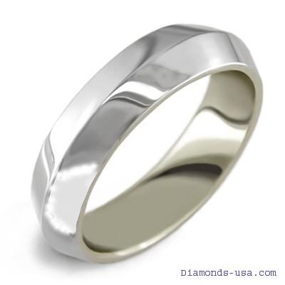 Anillo de boda para hombre con borde afilado, 4 mm