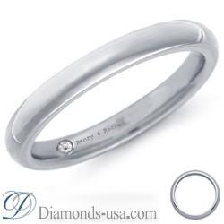 Anillo de boda de diamantes e inscripción - 2,6mm.