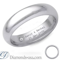 Picture of Diamond and inscription wedding ring-4.7mm