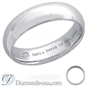 Picture of Diamond and inscription wedding ring-5.6mm