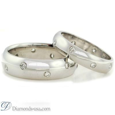 Anillo de boda con diamante de 0,50 quilates, 3,7mm.